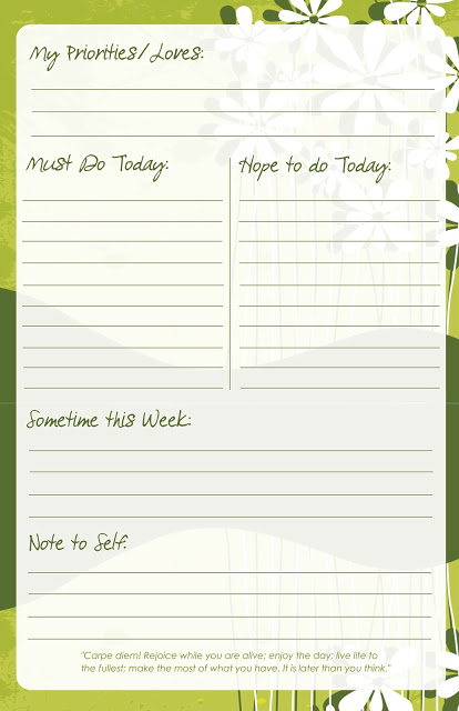 thursday diy free printable to do list