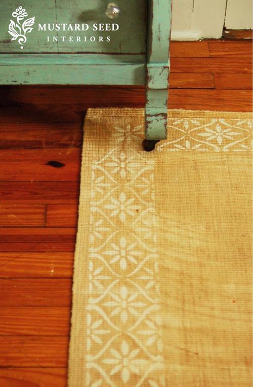 DIY: Stenciled Floor + Stenciled Rug | In Honor Of Design