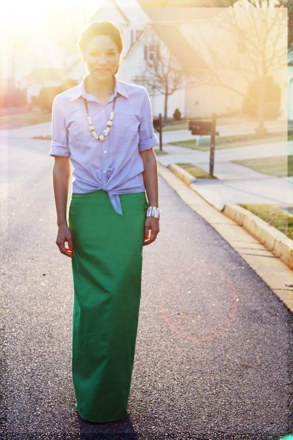 DIY: J. Crew Inspired Jade Maxi Skirt
