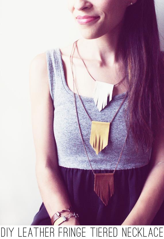 leatherfringenecklace