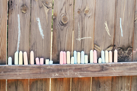 chalk in a row