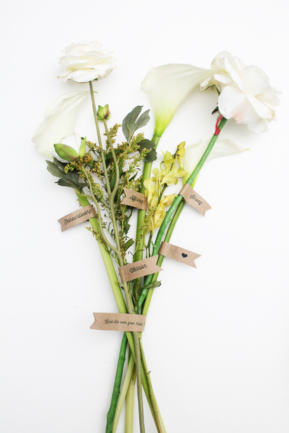 Affirmation Bouquet for Mothers - via IHOD