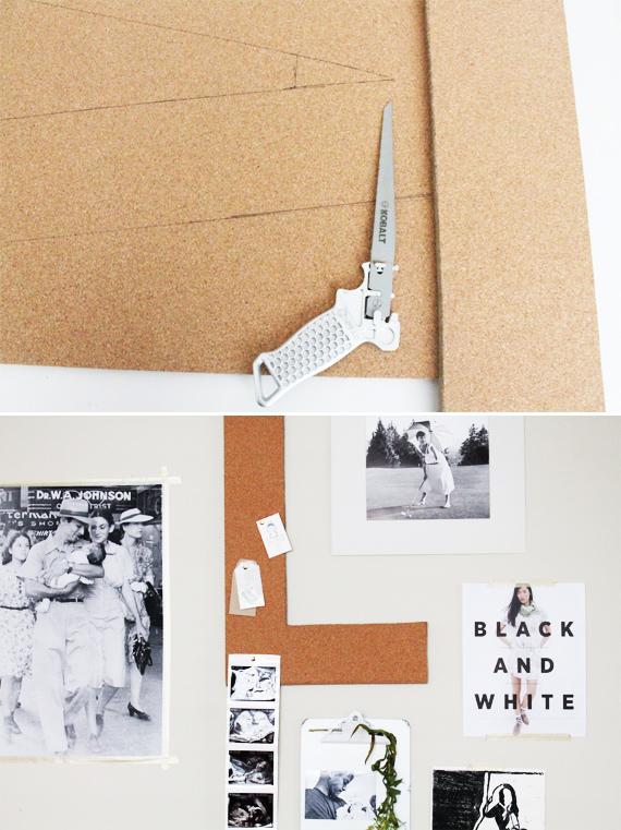DIY Corkboard Letters via IHOD