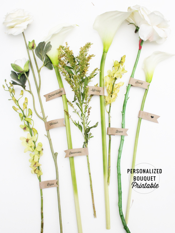 DIY Personalized Bouquet Printable via IHOD