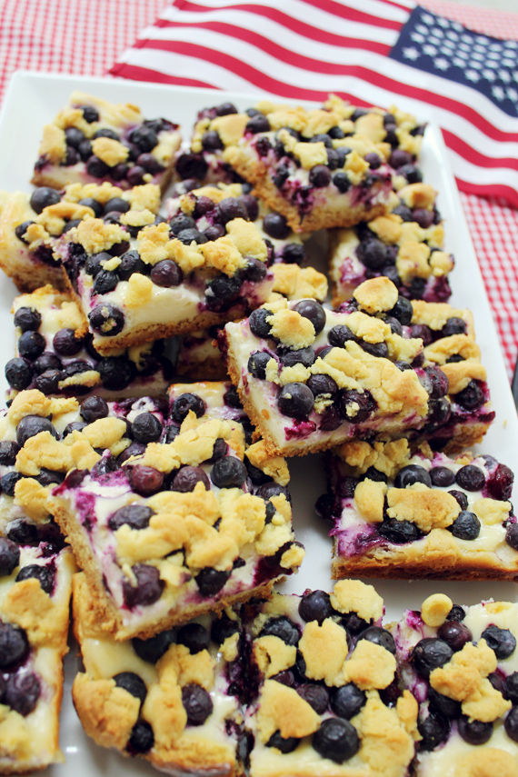 Lemon Blueberry Bars via IHOD