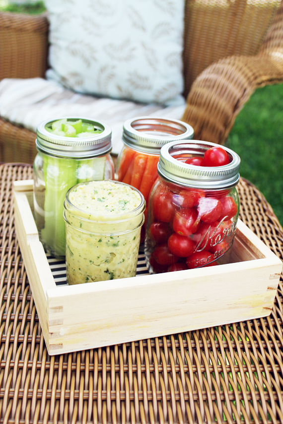 Pack Your Picnic - White Bean Hummus via IHOD