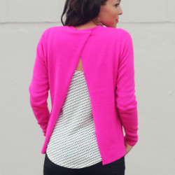 Cross back sweater DIY | In Honor of Design