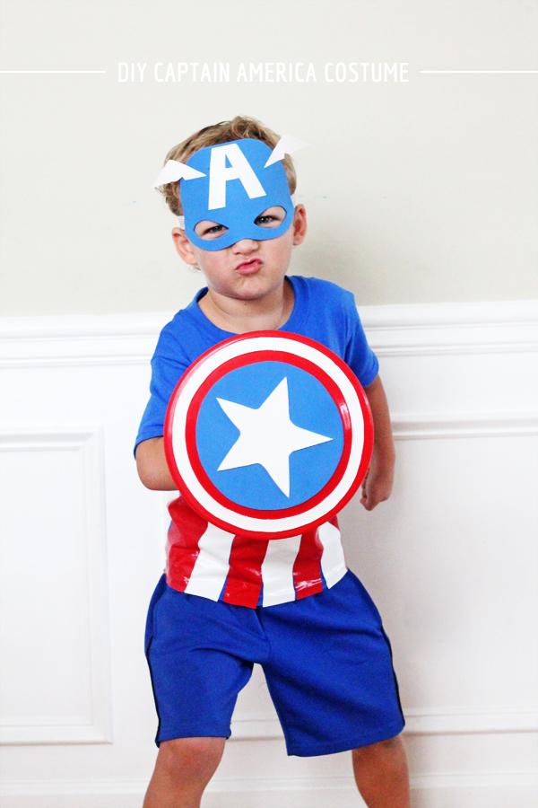 Diy Captain America Costume With Pb Kids In Honor Of Design