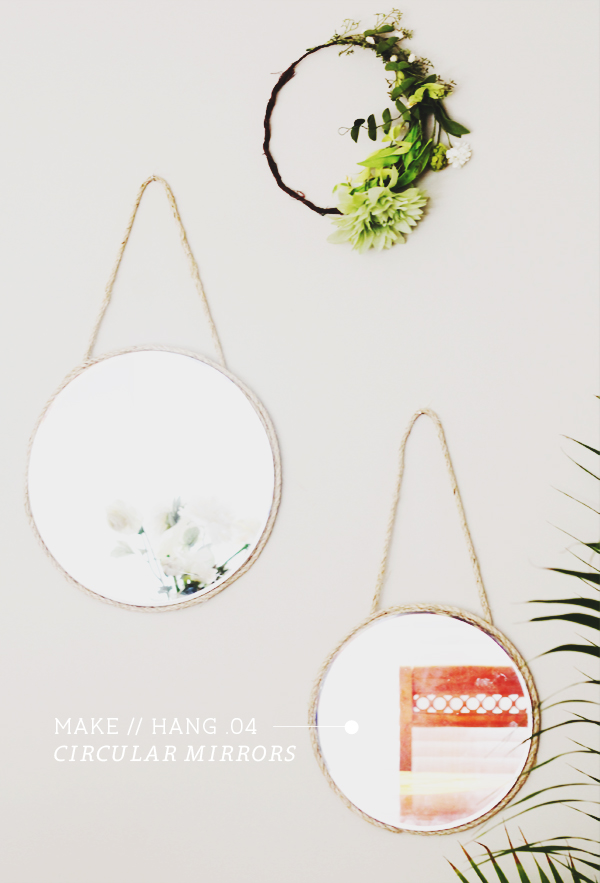 DIY Hanging Mirrors | In Honor of Design