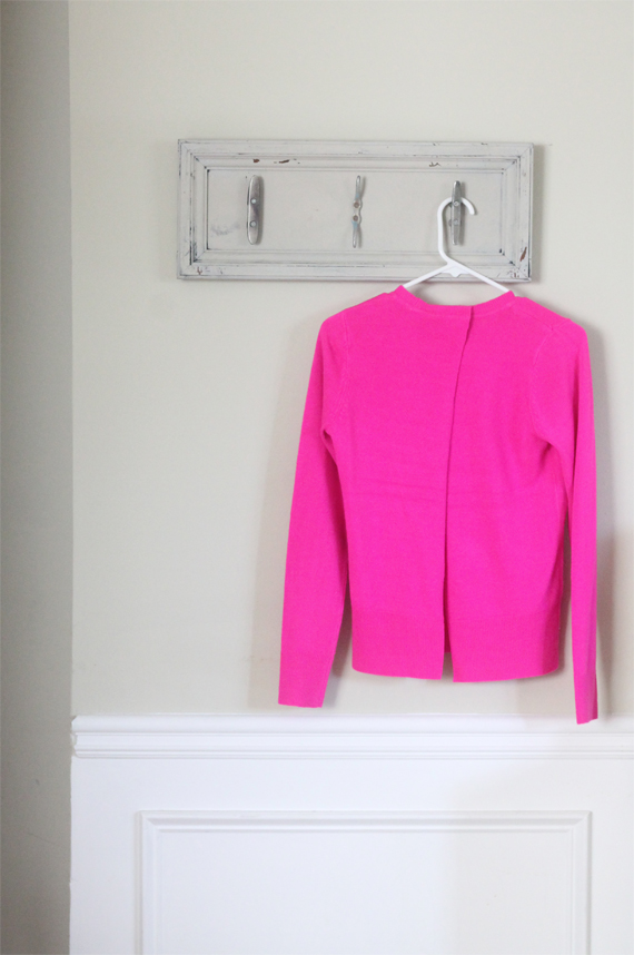 Open Back Sweater DIY | In Honor of Design