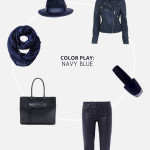 color play - navy blue