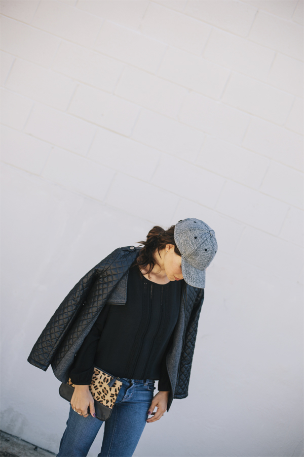 Quilted Leather-Pleated shirt-Ball cap