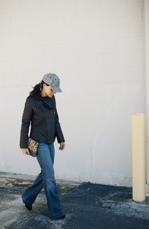 Quilted leather-Ball Cap-Flare Denim