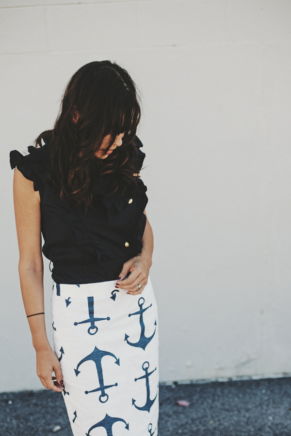 anchor skirt | Dress Corilynn