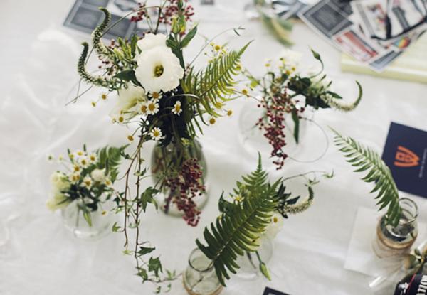 center floral vases