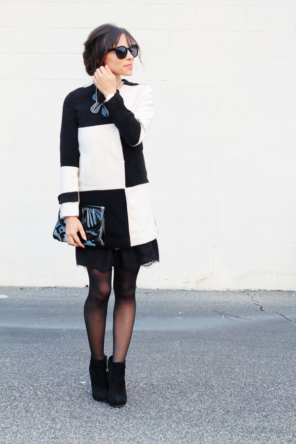 Contrast Panel Coat } In Honor of Design