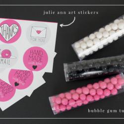 bubble gum tubes valentine