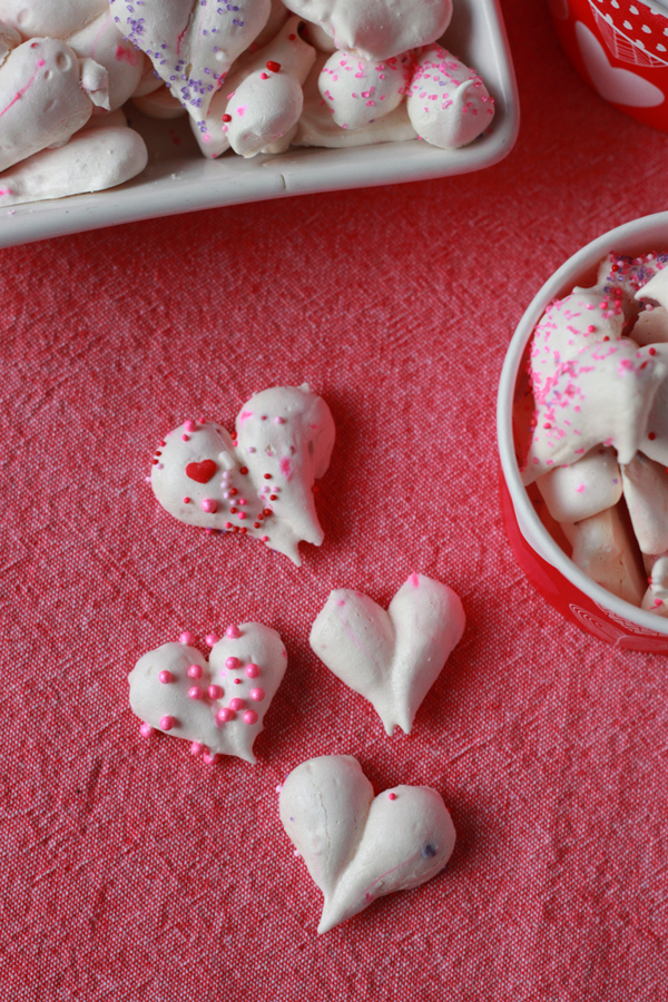 Heart Meringues - Stir and Scribble