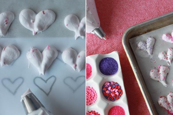 Stir and Scribble} Valentine Meringues