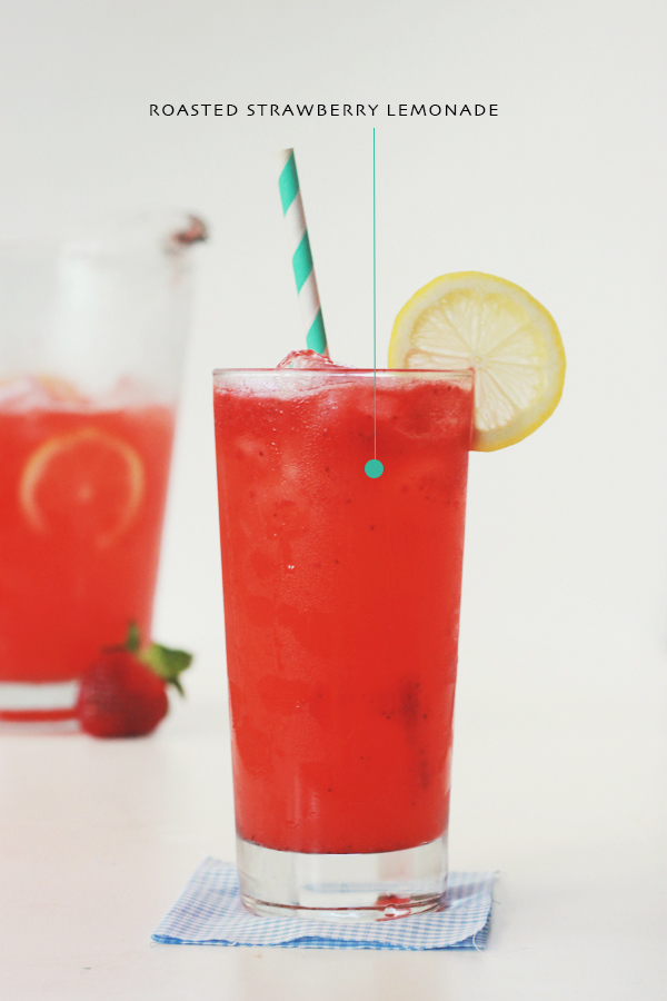 Roasted Strawberry Lemonade - Stir & Scribble for IHOD