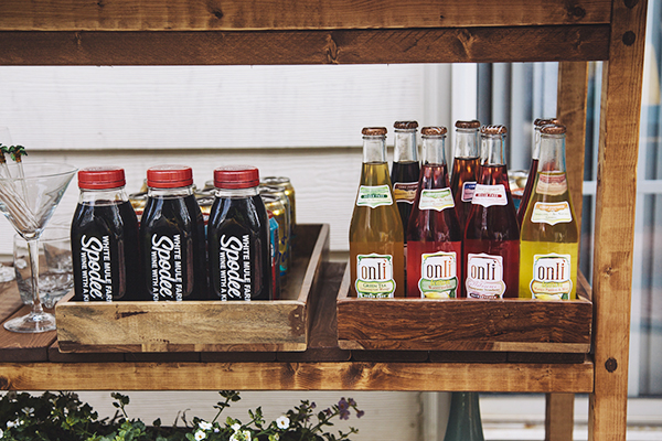 Bar cart beverages | Chelsey Heidorn Photography