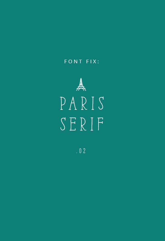 Font Fix- Paris Serif - IHOD