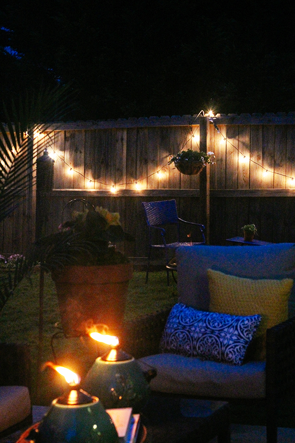 Outdoor patio - night