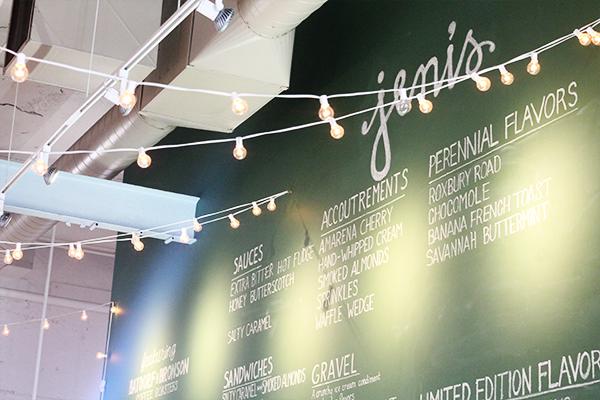 Jeni's menu