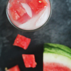 Watermelon Soaked Lemonade via IHOD