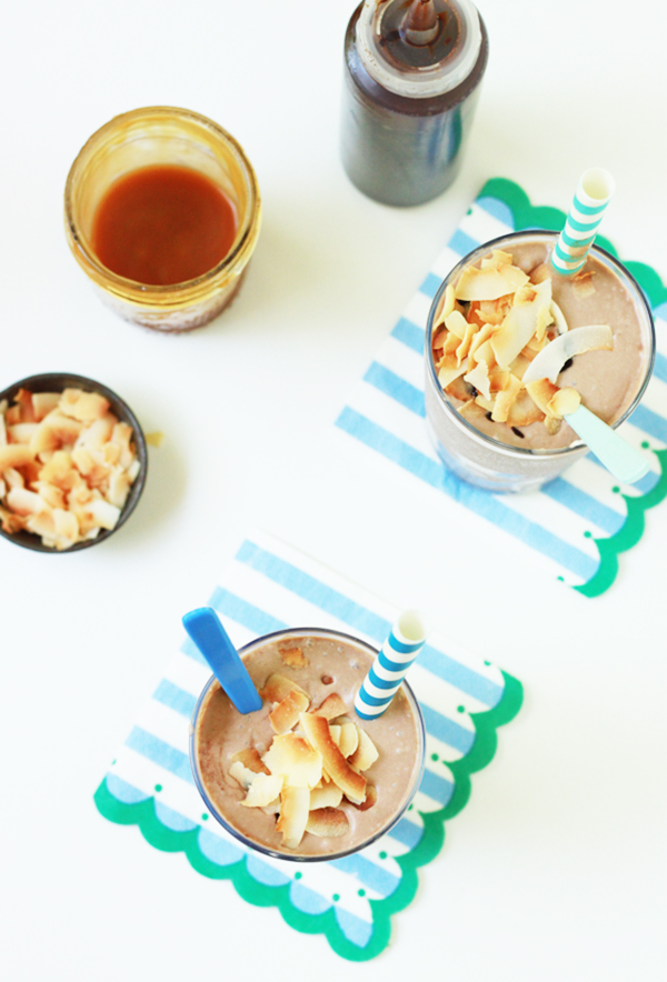 Chocolate Caramel Coconut Shakes