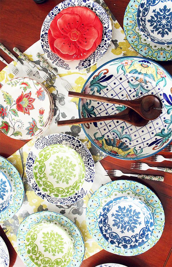 bohemian plates