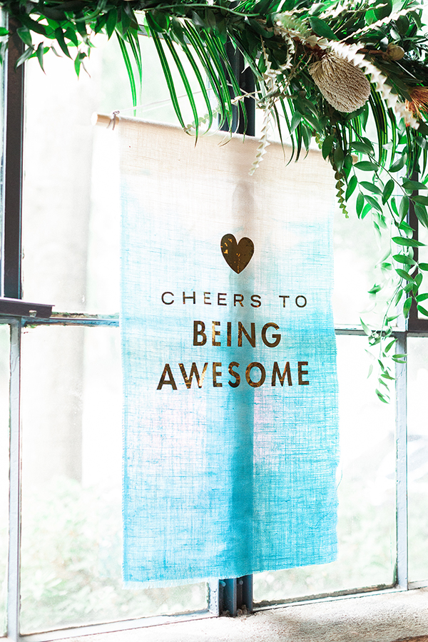 Cheers to Being Awesome | www.inhonorofdesign.com