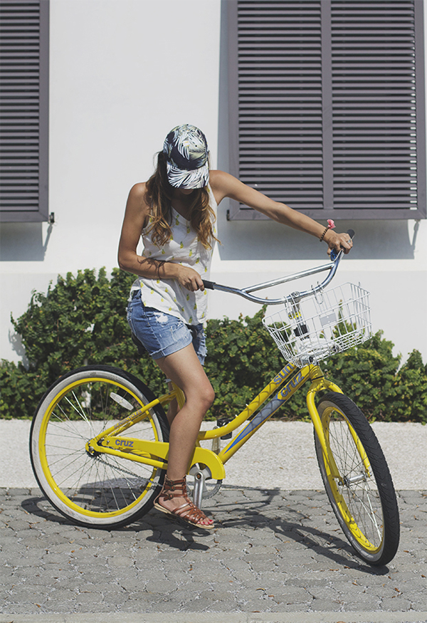 yellow bikes - Alys Beach www.inhonorofdesign.com