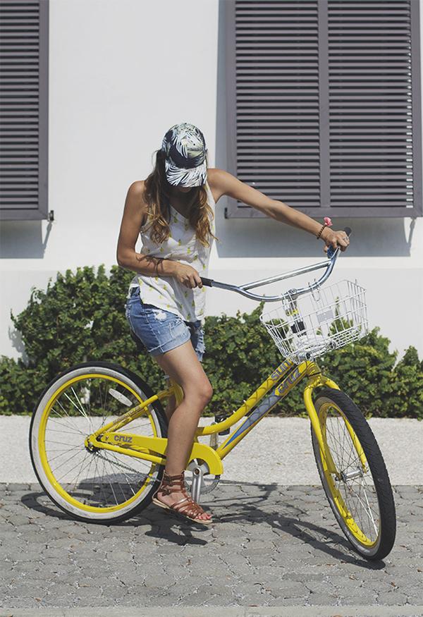 yellow bikes - Alys Beach www.inhonorofdesign.com