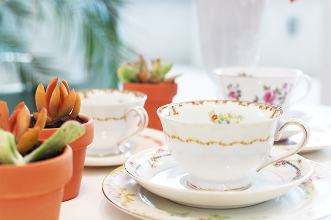 Teacups by Rent Vintage