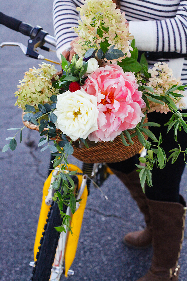 Floral Bike Basket | IHOD