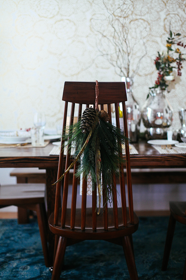 Chair Decor - Christmas Table