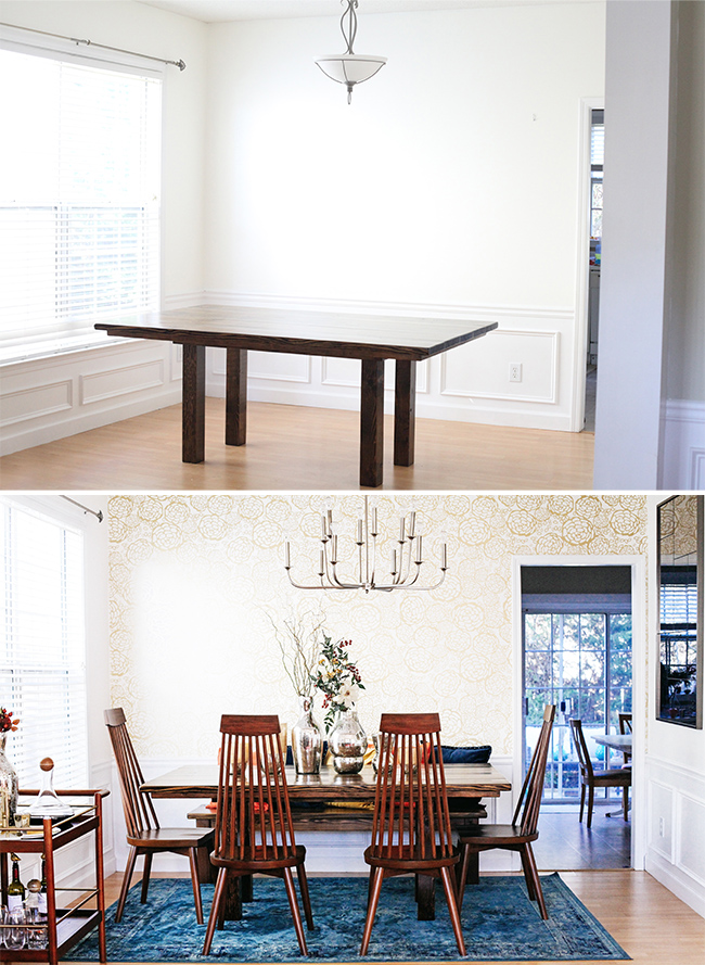 Before and After Dining Room Makeover | In Honor of Design