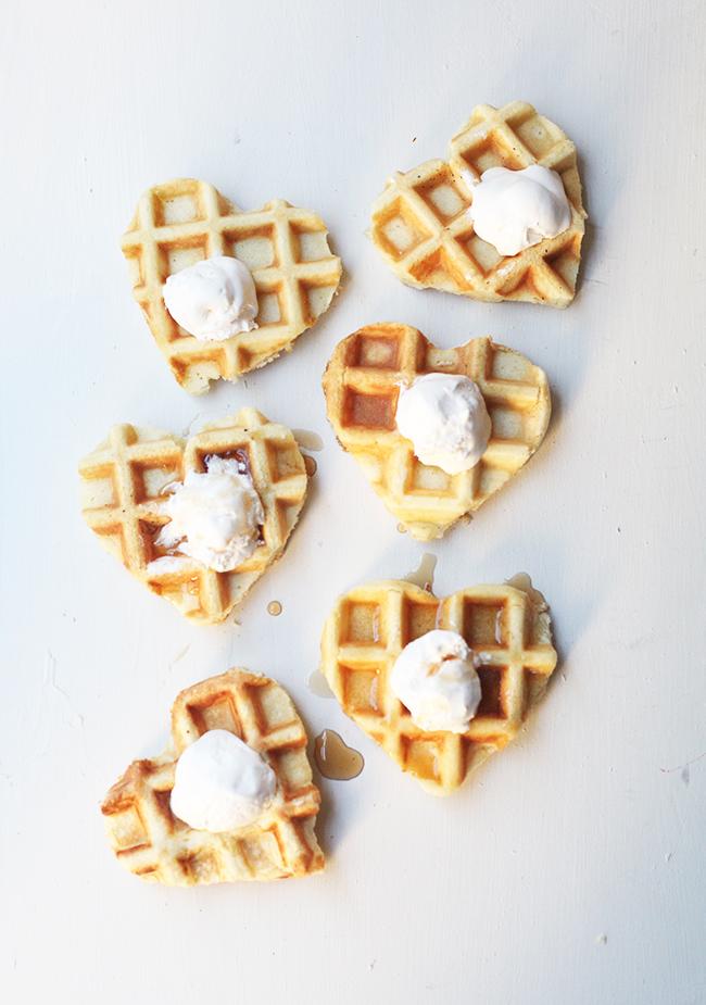 Heart Waffles - Hot breakfast Idea