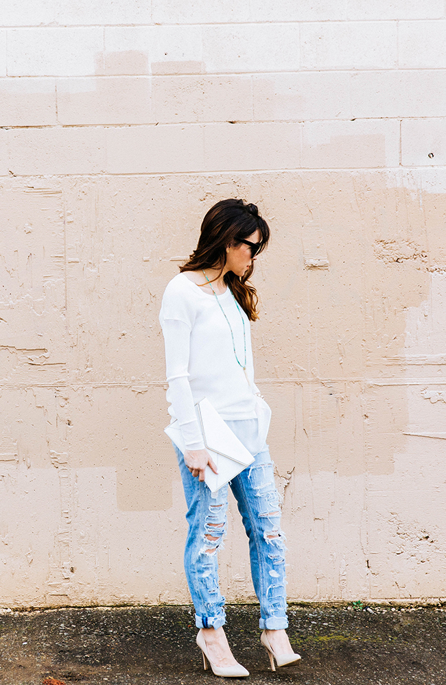 Whites and Torn Denim