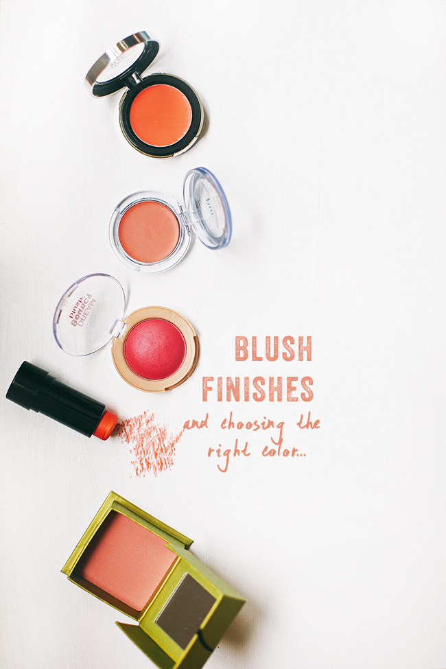 Choosing a blush color for your skin type.   In Honor Of Design