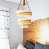 DIY Boho crochet chandelier | In Honor of Design