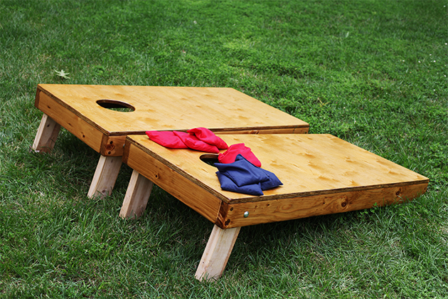 DIY Wooden Cornhole Set via In Honor of Design