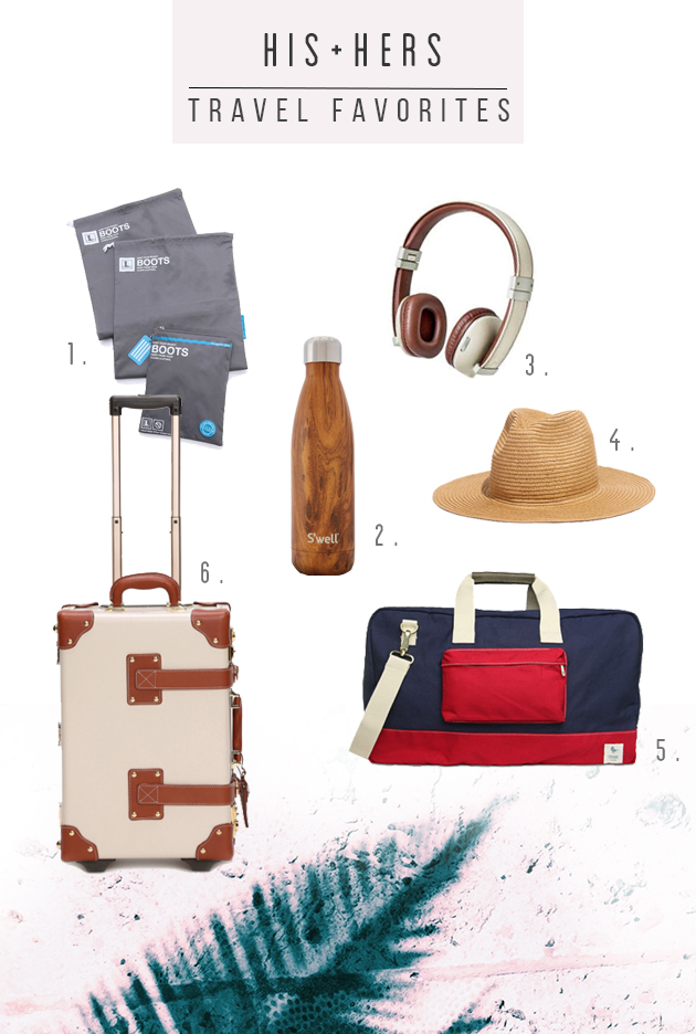 His + Her Travel Favorites