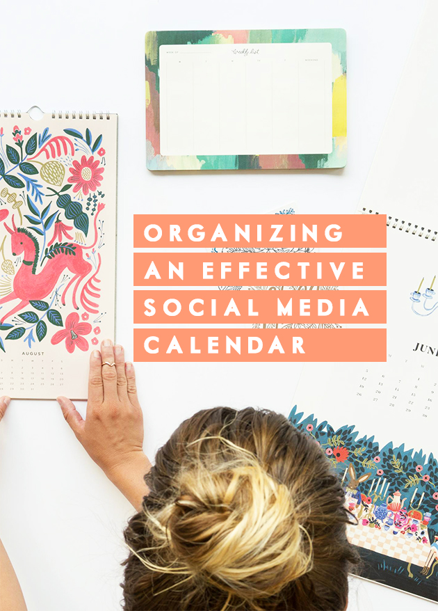 Organizing an effective social media calendar | In Honor of Design