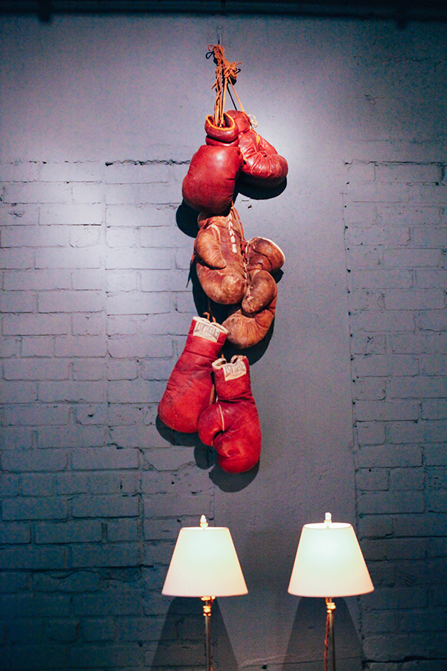 Boxing gloves wall decor
