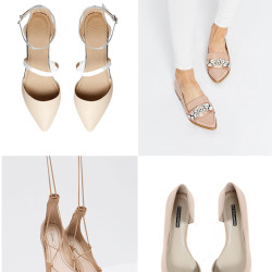 Nude flats under $100