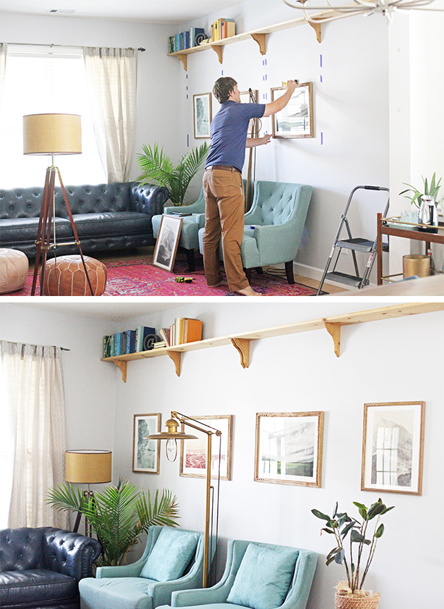 Tip for hanging gallery wall art