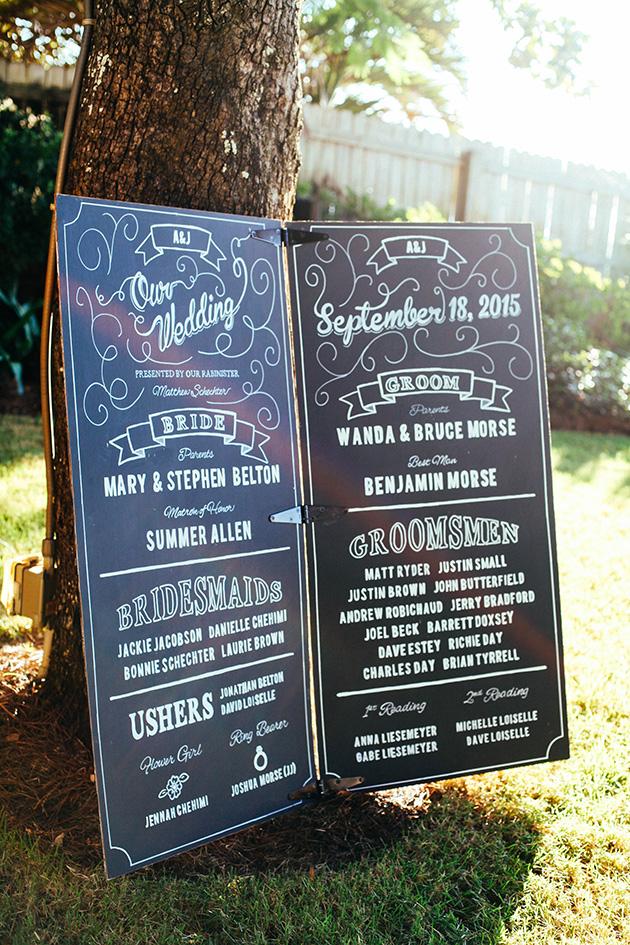 giant wedding program