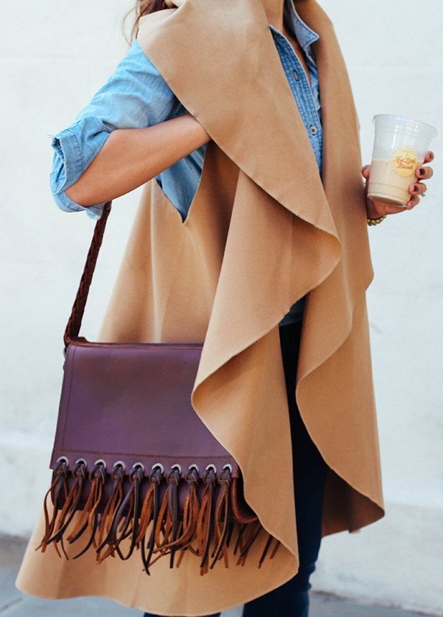 DIY wrap cape vest